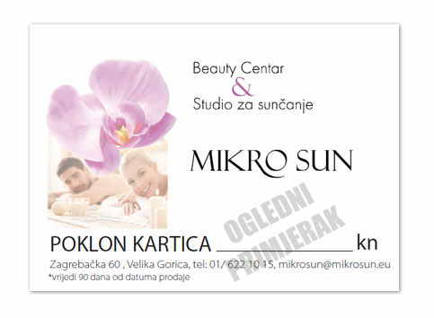 Poklon Bon Beauty centar MikroSun